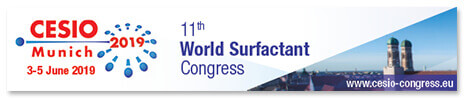 CESIO World Surfactants Congress 3rd – 5th June 2019 in Munich